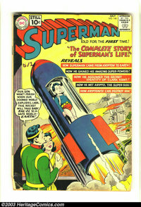 Superman #146 (DC, 1961) Condition: GD. Superman's life story. Classic Curt Swan cover. Overstreet 2003 GD 2.0 value = $...