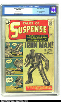 Tales of Suspense #39 (Marvel, 1963) CGC GD/VG 3.0 Cream to off-white pages. Origin and first appearance of Iron Man. Ja...