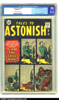 Tales to Astonish #28 (Marvel, 1962) CGC FN/VF 7.0 Cream to off-white pages. Gorilla-man story. Jack Kirby, Gene Colan...