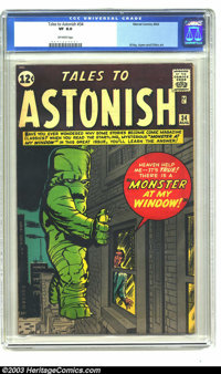 Tales to Astonish #34 (Marvel, 1962) CGC VF 8.0 Off-white pages. This wild cover is a favorite of pre-hero Marvel enthus...