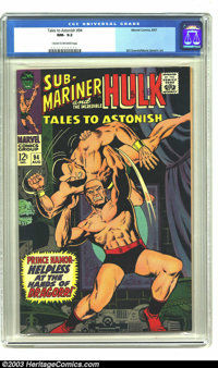 Tales to Astonish #94 (Marvel, 1967) CGC NM- 9.2 Cream to off-white pages. Sub-Mariner vs. Dragorr, and the Incredible H...