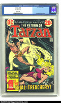 Bronze Age (1970-1979):Miscellaneous, Tarzan #219 (DC, 1973) CGC VF/NM 9.0 Off-white pages. Joe Kubertcover and art. This issue begins adaptation of Edgar Rice B...