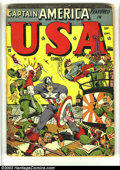Golden Age (1938-1955):Superhero, USA Comics #10 (Timely, 1943) Condition: Apparent GD (A). Alex Schomburg cover. The Thunderbird's first and only appearance....