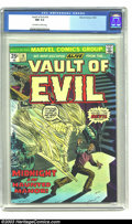 Bronze Age (1970-1979):Horror, Vault of Evil #14 (Marvel, 1974) CGC NM 9.4 Off-white pages.Highest graded copy yet certified by CGC for this issue. Overst...