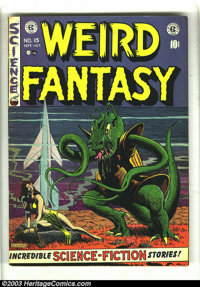 Weird Fantasy #15 (EC, 1952) Condition: VG+. Al Feldstein bondage cover. Al Williamson, Jack Kamen, and Joe Orlando art...