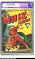 Golden Age (1938-1955):Superhero, Whiz Comics #25 (Fawcett, 1941). CGC Apparent VG 4.0 Extensive (P) Cream to off-white pages. Origin and first appearance of ...
