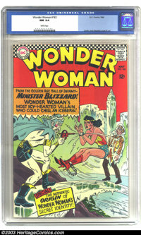 Wonder Woman #162 (DC, 1966) CGC NM 9.4 White pages. Versus Minister Blizzard. Ross Andru and Mike Esposito cover and ar...