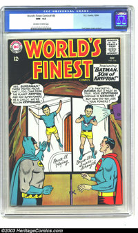 World's Finest Comics #146 (DC, 1964) CGC NM- 9.2 Off-white to white pages. Was Batman a Kryptonian? That's the question...