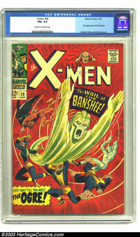 X-Men #28 (Marvel, 1967) CGC FN+ 6.5 Cream to off-white pages. First appearance of the Banshee. Werner Roth and Dick Aye...