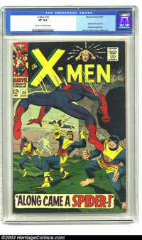 X-Men #35 (Marvel, 1967) CGC VF 8.0 Cream to off-white pages. Spider-Man crossover, Banshee appearance, and the first ap...