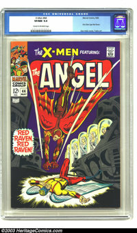 X-Men #44 (Marvel, 1968) CGC VF/NM 9.0 Cream to off-white pages. First Silver Age Red Raven. Don Heck cover, George Tusk...