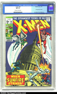 X-Men #64 (Marvel, 1970) CGC NM 9.4 Off-white to white pages. First appearance of Sunfire. Don Heck and Tom Palmer art...