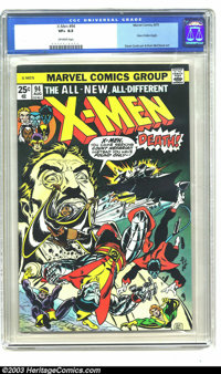 X-Men #94 (Marvel, 1975) CGC VF+ 8.5 Off-white pages. New X-Men begin. Dave Cockrum art, Gil Kane cover. Overstreet 2003...