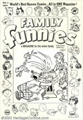 Original Comic Art:Covers, Al Avison (attributed) - Original Cover Art for Family Funnies #3(Harvey, 1950). The world's best known comics, all in ONE ...