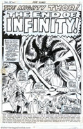 Original Comic Art:Splash Pages, John Buscema and Jim Mooney - Original Art - Splash Page for Thor#188 (Marvel, 1971). Odin has fallen under the spell of th...