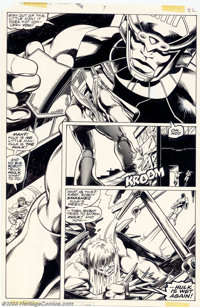 John Byrne and Bob Layton - Original Art for Incredible Hulk Annual #7, page 22 (Marvel, 1978). An absolutely spectacula...