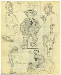 "Robert Crumb - Original Sketches ""Apprentice Teacher"" (undated, early '60s). This two-sided sketchbook page is..."