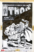Original Comic Art:Covers, Keith Pollard and Bob Layton - Original Cover Art for Thor #288 (Marvel, 1979). One of the mysterious Celestials oversees a ...
