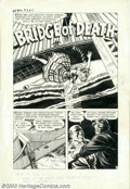 "Original Comic Art:Complete Story, Bob Powell and Howard Nostrand - Original Art for Witches Tales #17, Complete 7-page Story, ""Bridge of Death"" (Harvey, 1953)...."