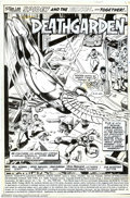 Original Comic Art:Splash Pages, Dave Wenzel and Dan Green - Original Art for Marvel Team-Up #71,page 1 (Marvel, 1978). Great splash page from this fan-favo...