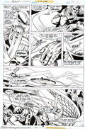 Original Comic Art:Splash Pages, George Tuska and Frank McLaughlin - Original Art for Green Lantern#167, page 15 (DC, 1983). VHOOMP! Hal's plan works, and t...