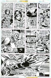 Dave Wenzel and Pablo Marcos - Original Art for The Avengers #174, page 11 (Marvel, 1978). The Wasp gives the deadly Col...
