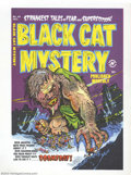 Golden Age (1938-1955):Superhero, Cover Proof/Color Separations for Black Cat Mystery #40, Artwork by Rudy Palais (Harvey, 1952). A giant, slavering monster s...