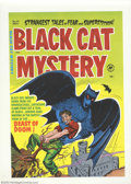 "Golden Age (1938-1955):Superhero, Cover Proof/Color Separations for Black Cat Mystery #41, Artwork by Joe Simon (Harvey, 1952). A giant black bat, the ""Beast ..."