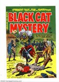 Golden Age (1938-1955):Superhero, Cover Proof/Color Separations for Black Cat Mystery #43, Artwork by Lee Elias (Harvey, 1953). A beautiful girl is about to g...