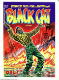 Golden Age (1938-1955):Superhero, Cover Proof/Color Separations for Black Cat Mystery #44, Artwork by Lee Elias (Harvey, 1953). The gushing impact of oil is t...