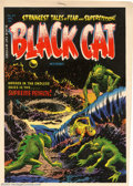Golden Age (1938-1955):Superhero, Cover Proof/Color Separations for Black Cat Mystery #47, Artwork by Lee Elias (Harvey, 1953). Quizzical aliens discover the ...