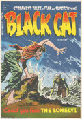 Golden Age (1938-1955):Superhero, Cover Proof/Color Separations for Black Cat Mystery #48, Artwork by Lee Elias (Harvey, 1953). Death rises from the choppy wa...