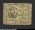 Colonial Notes:Continental Congress Issues, July 22, 1776, $30, Continental Congress Issue, CC-46, Fine. ...