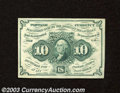 Fractional Currency:First Issue, First Issue 10c, Fr-1242, AU. This is a fresh and bright ...