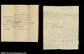 Stocks and Bonds:Certificates with Significant Autographs, Zebulon Butler Signed Certification of Military Service