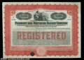 Stocks and Bonds:Certificates with Significant Autographs, James Buchanan Duke - Piedmont and Northern Railway ...