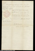 Stocks and Bonds:Certificates with Significant Autographs, Abraham Lincoln - Presidential Pardon