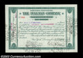 Stocks and Bonds:Certificates with Significant Autographs, Robert Todd Lincoln - Pullman Company Fractional Scrip (...