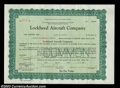 Stocks and Bonds:Certificates with Significant Autographs, Allan Loughead - Lockheed Aircraft Company (Nevada)
