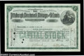Stocks and Bonds:Certificates with Significant Autographs, Andrew Mellon - Pittsburgh, Cincinnati, Chicago and St. ...