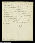 Stocks and Bonds:Certificates with Significant Autographs, Napoleon Bonaparte - Military Orders