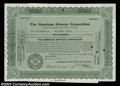 Stocks and Bonds:Certificates with Significant Autographs, William S. Paley - Pan American Airways Corporation (...