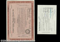 Stocks and Bonds:Certificates with Significant Autographs, Mary Pickford - United Artists (Maryland)