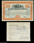 Stocks and Bonds:Certificates with Significant Autographs, Stanley Resor - Irving Trust Company (New York)