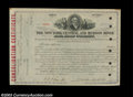 Stocks and Bonds:Certificates with Significant Autographs, William H. Vanderbuilt - New York Central and Hudson River ...