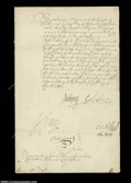 Stocks and Bonds:Certificates with Significant Autographs, Sir Henry Vane - Early Colonial Governor