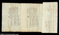 Stocks and Bonds:Certificates with Significant Autographs, George Washington's Life Guard - Pay Documents