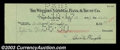 Stocks and Bonds:Certificates with Significant Autographs, Orville Wright - Signed Check