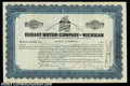 Stocks and Bonds:Automobile Certificates, Durant Motor Company of Michigan (Michigan)