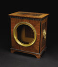 Furniture, An English Inlaid Cabinet. Unknown maker, English. Nineteenth Century. Walnut, other inlaid woods, bronze. Unmarked. 24 in...
